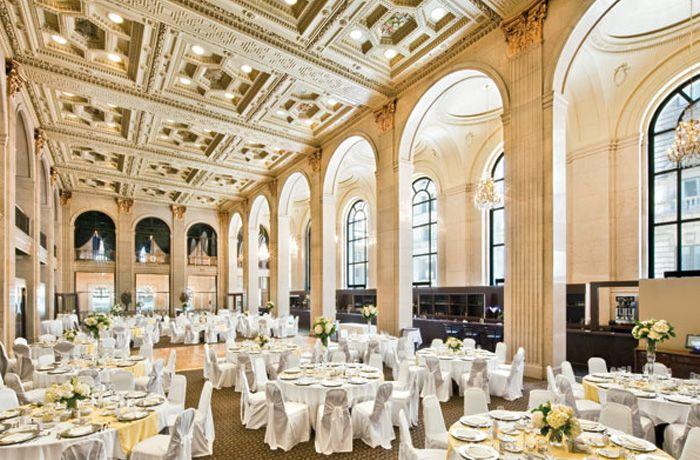 Gorgeous venue - 1 King West in Toronto. Toronto wedding venue.