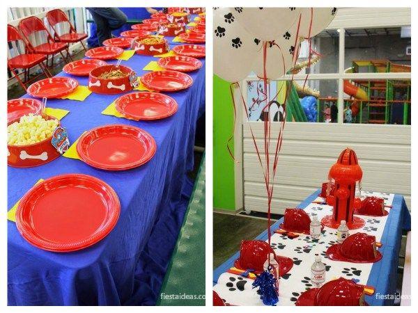 25 ideas de fiesta de Paw Patrol con decoraciones (La Patrulla Canina o de cachorros) decoraciones, invitaciones, centros de mesa, juegos, tortas, dulces