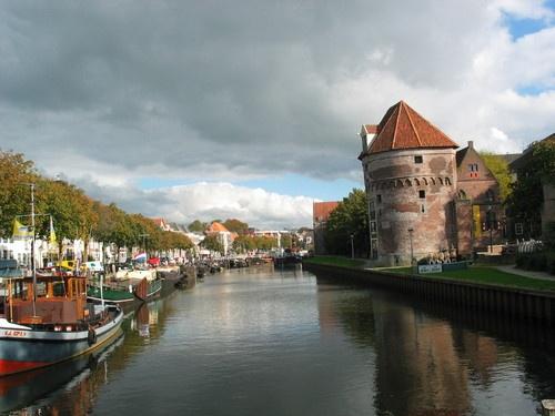 Zwolle; Old grain silo in Zwolle province capital of Overijssel Netherlands
