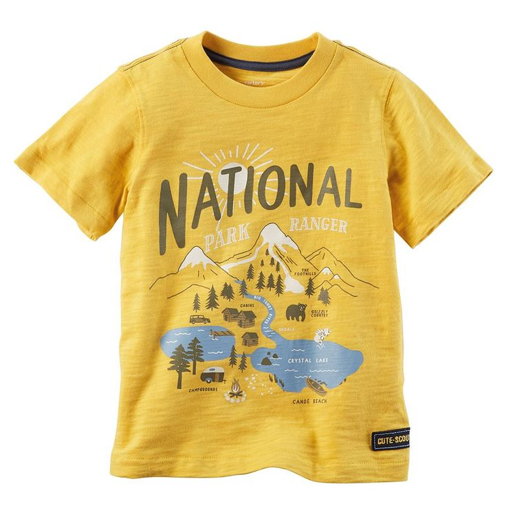 Toddler Boy Carter's Graphic Tee, Size: 2T, Yellow
