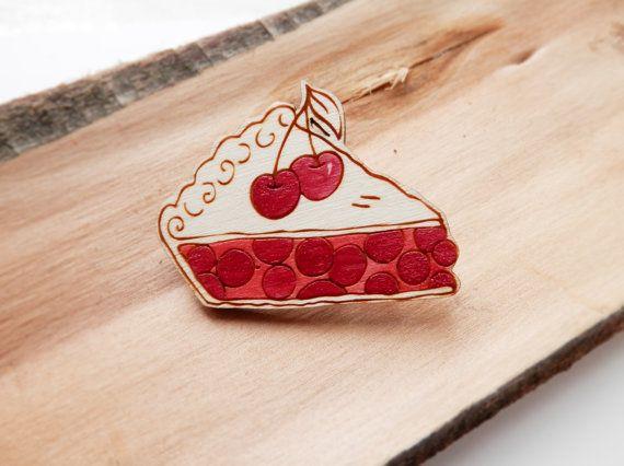 Twin Peaks Brooch 'Cherry Pie' by kateslittlestore on Etsy, £8.00