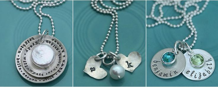 hand-stamped silver jewelry