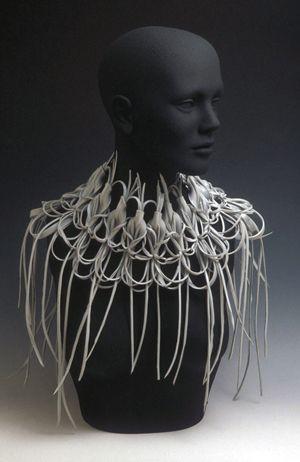Elizabeth Staiger  Recycled Plastic Neckpiece    Found Plastic, Wire