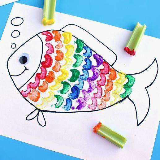 Rainbow Fish Art Craft for Kids   AllFreeKidsCrafts.com