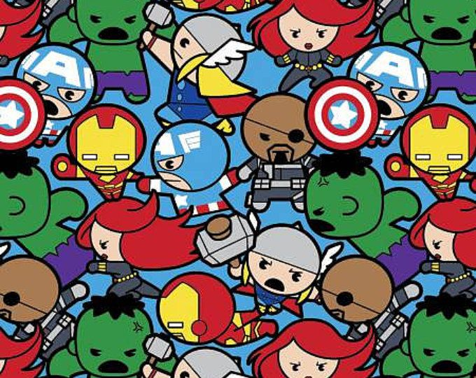 Super Hero Cotton Kawaii Hero, By Springs Creative