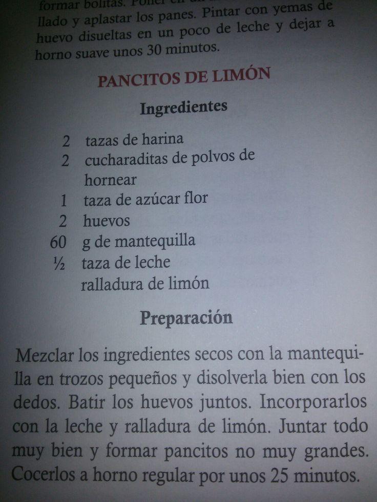 Pancitos de limon