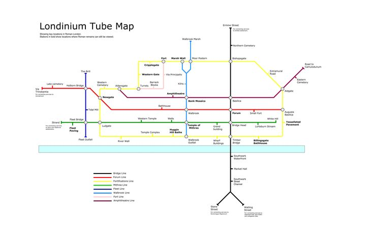 Tube Map of Roman London MAPS