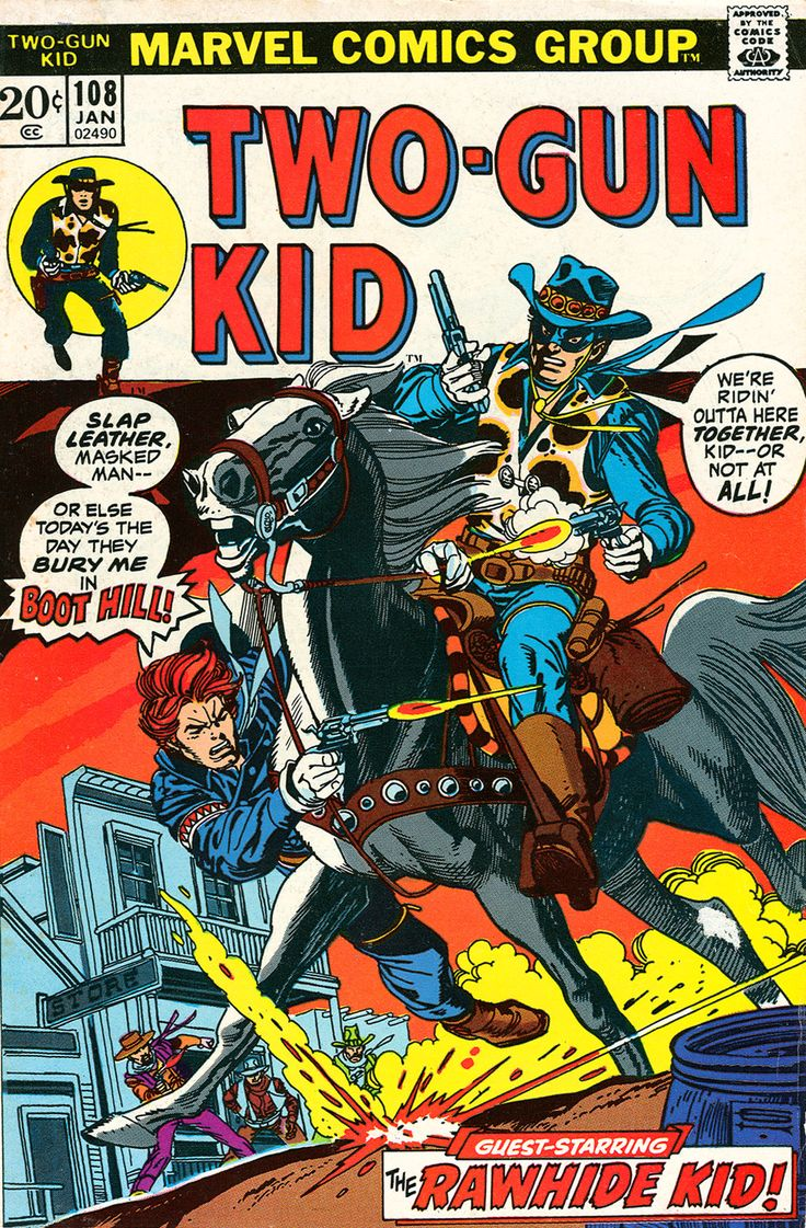 The Two-Gun Kid #108, January 1973, cover by Gil Kane