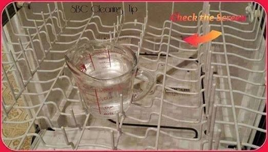 Cleaning the Dishwasher!  1) Remove the bottom rack and look for 'lost' items, hard items and 'chunks' in the bottom and around the mechanisms. Check the screen. 2) Put a cup of vinegar on the top shelf Run a cycle - hot water of course 3) Sprinkle about a cup of baking soda over the bottom of the dishwasher Run through a short cycle..  ┊ ┊ ┊ ☆Follow me here ---> www.facebook.com/stacey.p.folds ┊ ┊   ★Visit my web site ---> www.losewithskinnyfiber.com ┊   ☆Join my free weight loss support…
