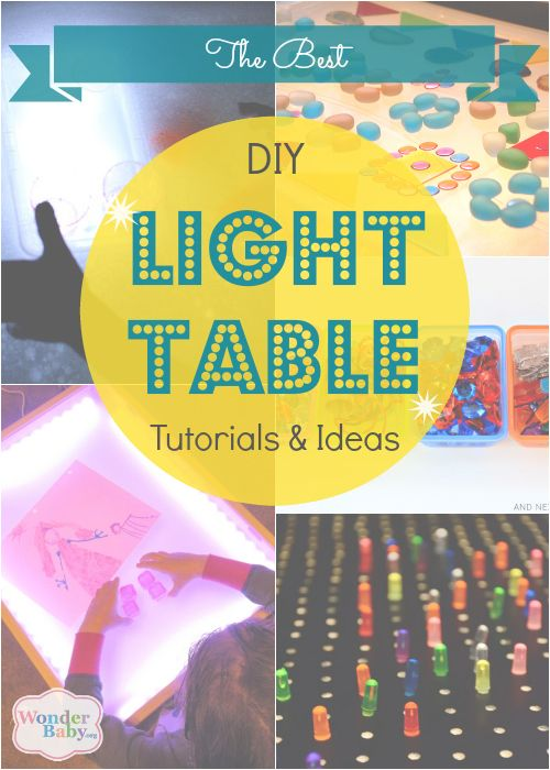 A light box or light table is an amazing early learning creativity and educational tool, especially for kids who are blind or low vision. You can really get kids motivated with lights and bright colors! Here are five of the best DIY light table tutorials, ranked from the more difficult and complex to the simple. You pick what's best for you! #ULTG