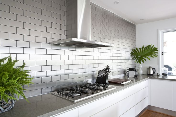 Stainless Steel Subway Tile from Alloy Design @ Materials & Sources   Home    Pinterest   Home design, Kitchen backsplash and Home