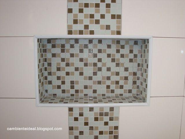 17 Best images about Ideias para banheiro on Pinterest  Bathrooms decor, Lau -> Nicho Para Shampoo Banheiro