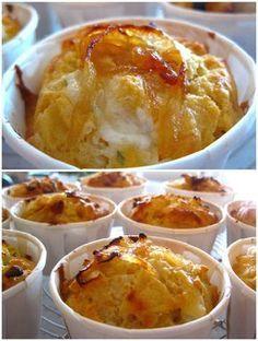 Muffins aux oignons caramélisés et au chèvre
