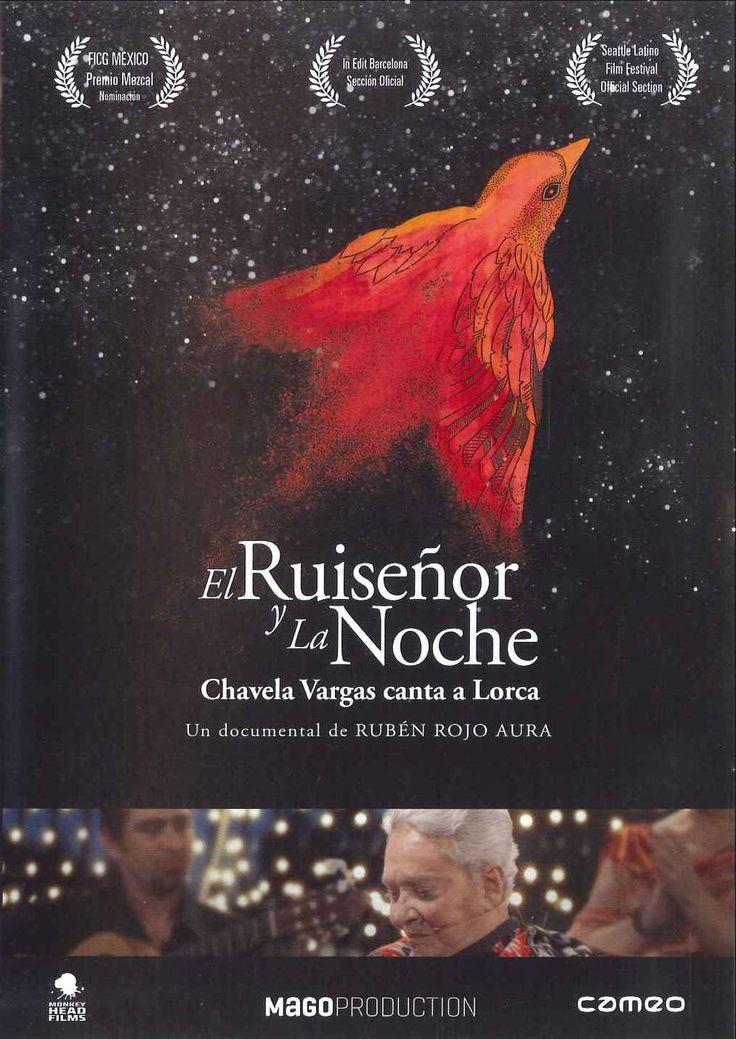 """""""El ruiseñor y la noche: Chavela Vargas canta a Lorca"""" (2015) México. Documental de Rubén Rojo Aura."""