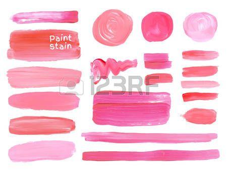 Lot de cosm tiques texture rondes srains isol sur blanc Vecteur peinture l huile texture Maquillage  Banque d'images