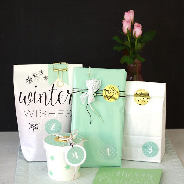 Verpackungsidee Adventskalender in Rosa und Mint mit miomodo | mimizuku - pieces for happiness | Bloglovin'