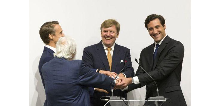 Prine Jean-Christophe Napoléon Bonaparte and HM King Willem-Alexander of the Netherlands, 2015