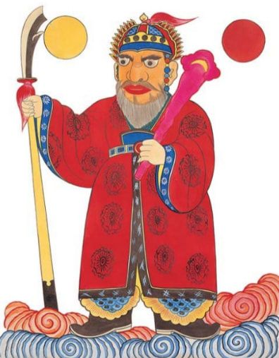 Mushindo ( 무신도 巫神圖)- Irwoldo Shinjang (일월도신장 日月都神將) God of the Sun and Moon