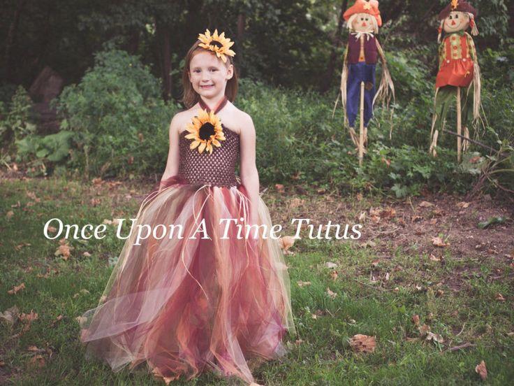 Autumn Scarecrow Tutu Dress Set Halloween by OnceUponATimeTuTus
