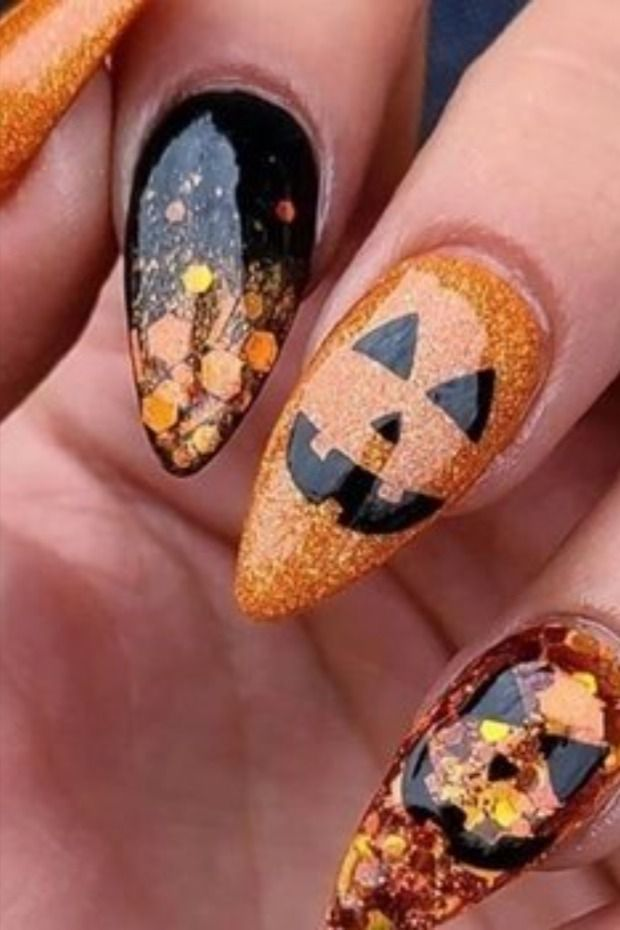 أفكار لرسومات الأظافر بمناسبة الهالوين Halloween Nails Nails Hair Makeup