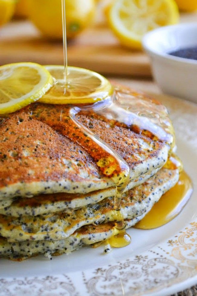 Lemon Poppy Seed Pancakes ~ a light citrusy recipe perfect for a special spring brunch, or any time you just want to treat yourself to something special!