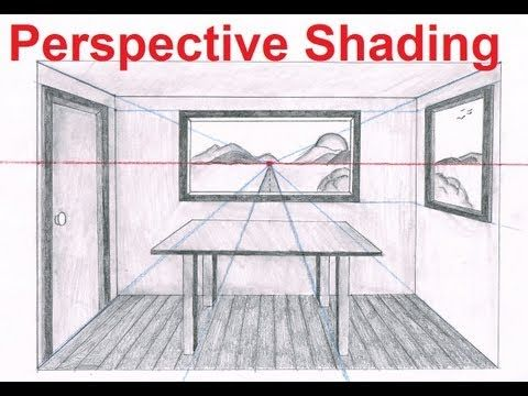 Perspective Lesson [6/6] - Shading Your Background For Realism - http://www.youtube.com/watch?v=9ZjipDdcpkg   (Full lesson at - http://mydrawingtutorials.com/one-point-perspective-room-drawing)