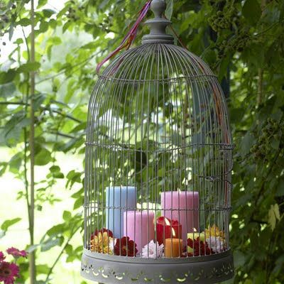 birdcage upcycle for garden