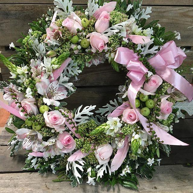 #babypink #wreath