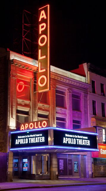 The Apollo Theater, located at West 125th St near Frederick Douglass Boulevard.