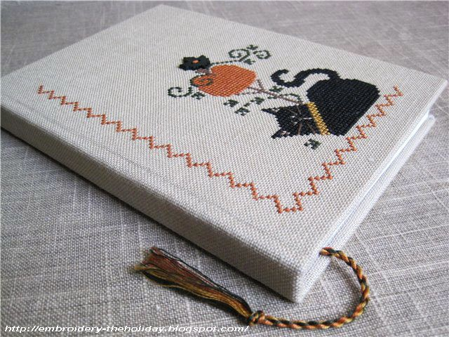 "Embroidery ... The holiday, which is always with me...: Блокнот ""The Black Cat"""