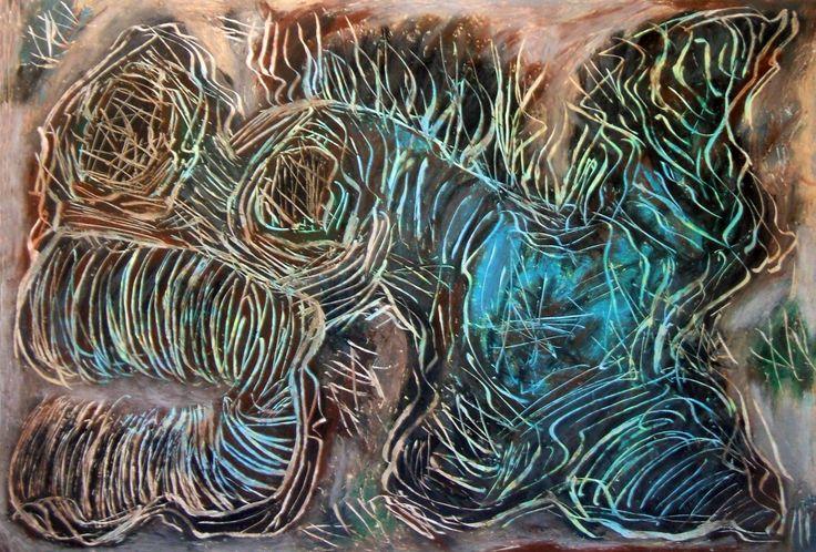 """Sanguisuga"" 2012 Tecnica mista su cartoncino 33x48 ©Pietro Gargano"