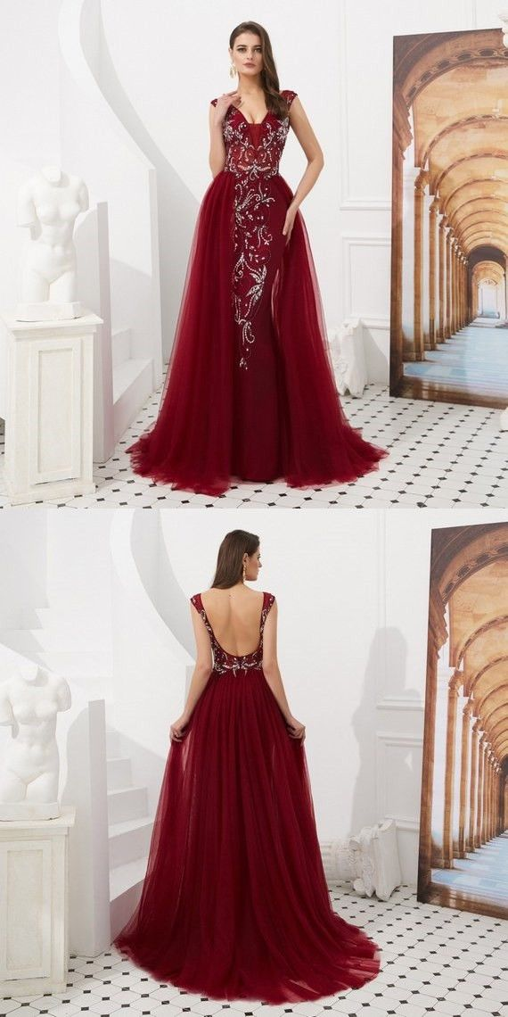 993743f4538aa Trumpet/Mermaid Gray Long Prom Dresses V neck Rhinestone Evening Gowns-Amyprom  prom dresses 2018,gorgeous prom dresses,prom dresses unique,prom dresses ...