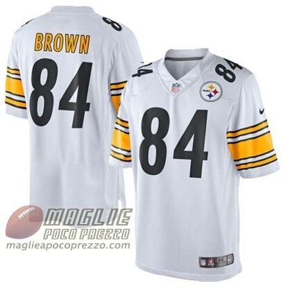 maglie basket nba poco prezzo: Maglie Nfl Brown Pittsburgh Steelers #84