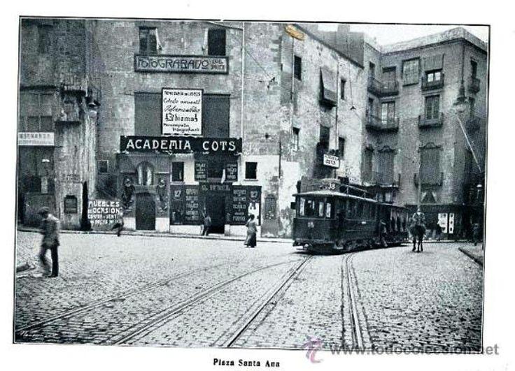 Barcelona, plaça Santa Anna actual Portal de l'Àngel.