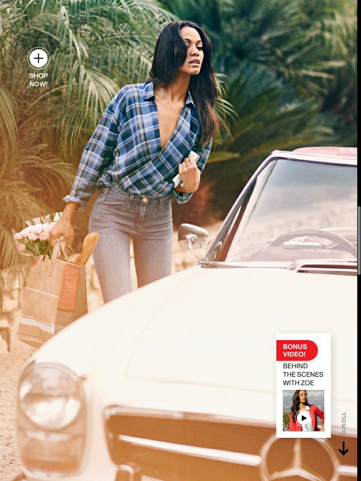 Love Zoe Saldana's Armani Exchange Blouse shown here from Lucky Magazine