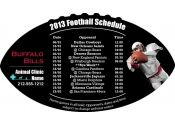 4x7 in One Team Buffalo Bills Football Schedule