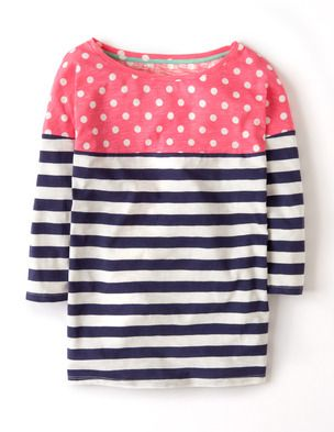 I've spotted this @BodenClothing Colourblock Breton English Violet/Camellia