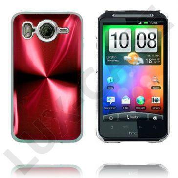 Aluminium Blade - Gjennomsiktig Kant (Rød) HTC Desire HD Deksel