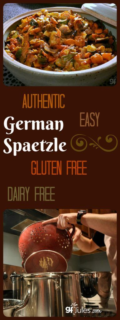 Authentic German Spaetzle made Gluten Free and Dairy Free - easy comfort food that goes with any meal! |gfJules.com