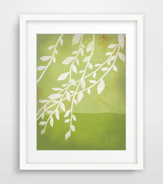 Garden+Botanical+Print+Landscape+Art+Tree+Art+Japanese+by+evesand,+$18.00