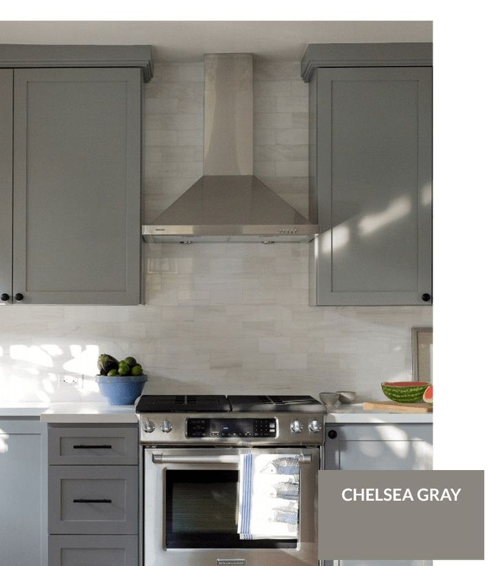 Best Benjamin Moore Chelsea Gray Painted Kitchen Cabinets 400 x 300