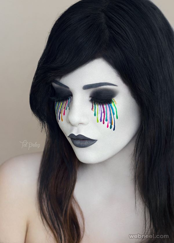 20 Beautiful and Creative Eye Makeup Ideas and art works by Tal Pele | Read full article: http://webneel.com/eye-makeup-ideas-art | more http://webneel.com/body-paintings | Follow us www.pinterest.com/webneel
