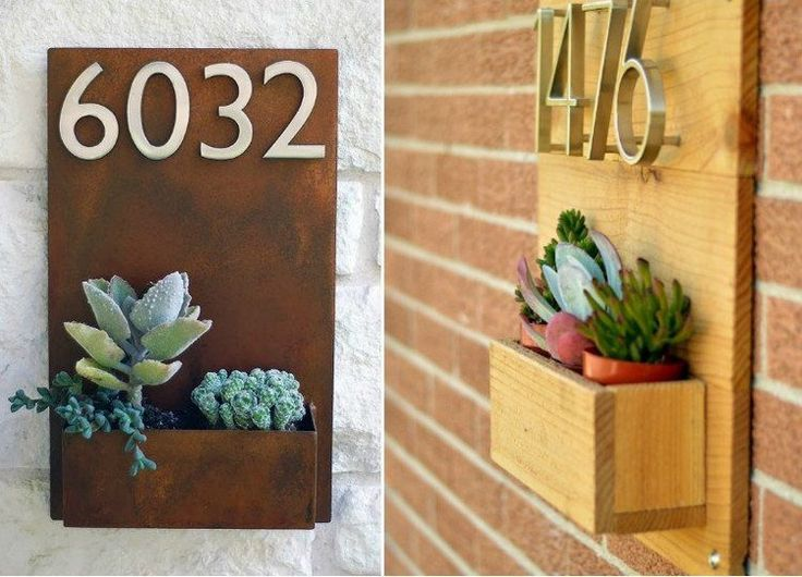 plaque numéro maison avec jardinière intégrée 11 idées plaque ...
