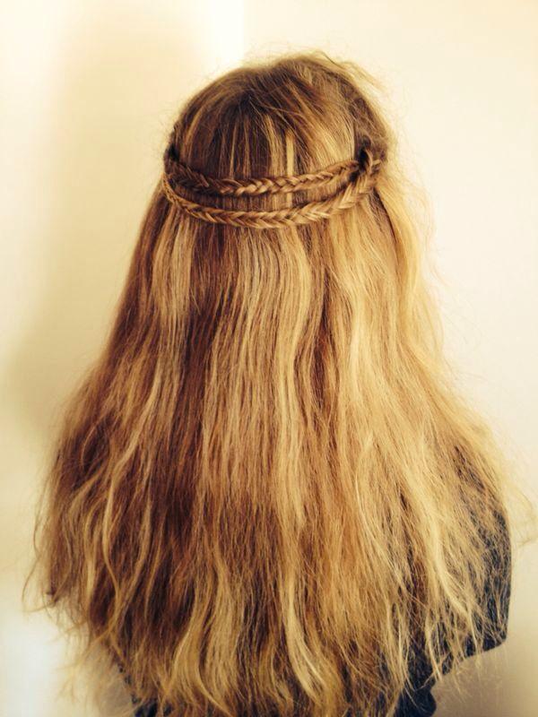 Kroonvlecht/ half crown braid