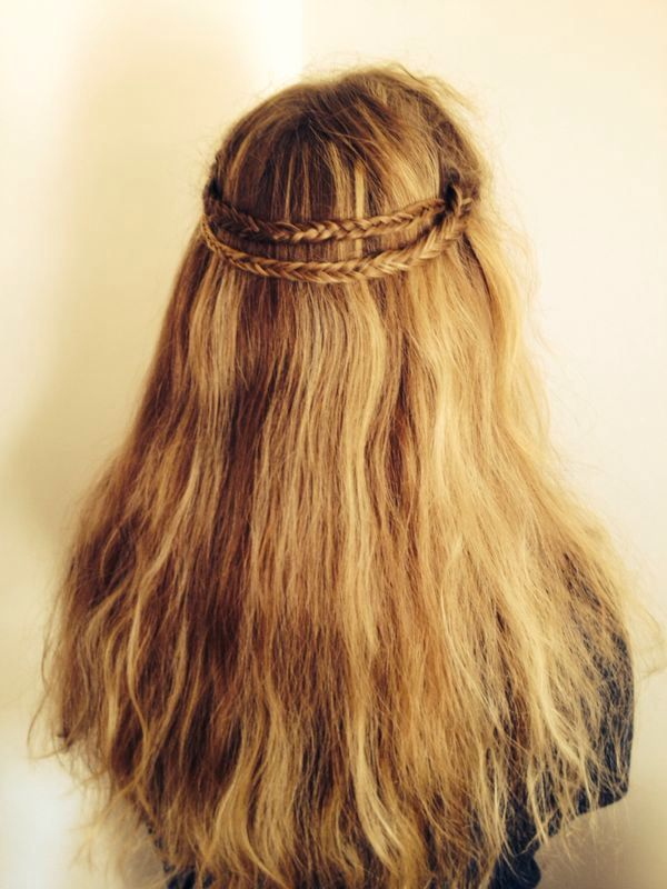 Kroonvlecht/ half crown braid