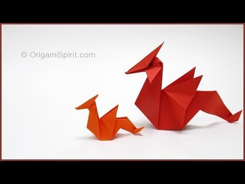 ▶ Tutorial -Origami Dragon : : Dragón de papel - YouTube