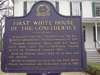 First White House of the Confederacy. Located across from the Alabama State Capitol