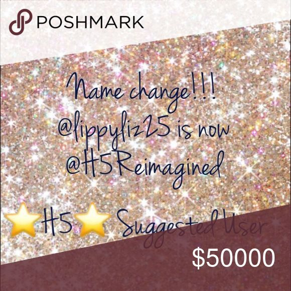 Name change!!! @lippyliz25 is now @H5reimagined!!! After careful thought I've decided to change my closet name to match the website that I'm currently working on!!!! Please tag team PFF's change my name in your tag lists so I'll still get all your awesome tags?! Tory Burch Bags