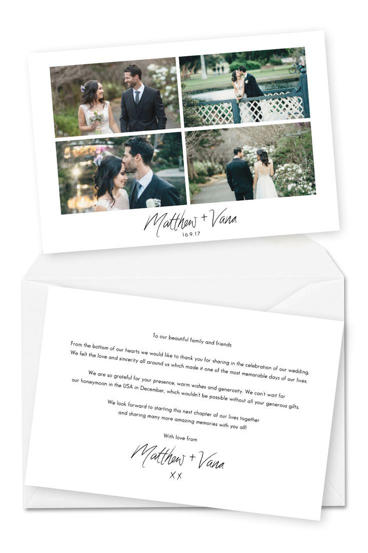 Things You Should Do While Waiting For Your Professional Wedding Photos Wedding Thank You Cards Wording Wedding Thank You Postcards Thank You Card Wording