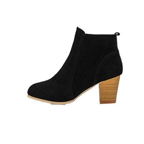Oferta: 11.28€. Comprar Ofertas de Botas para mujer, RETUROM Botas de nuevo estilo con tacones altos mujeres Martin botas (35, negro) barato. ¡Mira las ofertas!